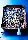 Blackberry batter pudding