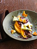 Radicchio, melon and blue cheese salad