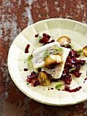 Sea bream with beetroot