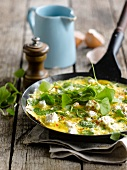 Omelette with ricotta and purslane