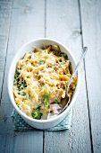 Macaronis,broccoli and smoked turkey gratin