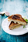 Camembert and turkey toasted sandwich