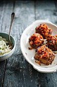 Turkey and thyme meatballs with stewed tomatoes