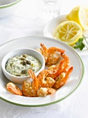 Scampis with tartare sauce
