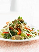 Chicken, celery and caper Asian-style salad