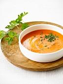 Chicory and tomato soup
