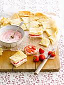 Mini strawberry sandwiches