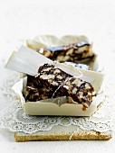 Puffed rice and chocolate bars