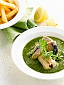 Eel in fresh herb sauce