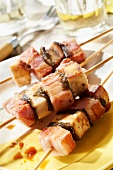 Tuna, farmhouse streaky bacon and breton kombu brochettes