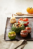 Assortment of stuffed vegetables