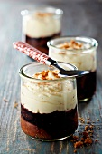 Figs poached in red wine with light mascarpone cream