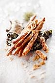 Bundle of Plougastel strawberry filo pastry sticks