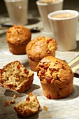 Oat anf fruit paste muffins