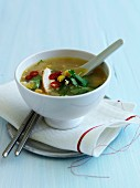 Chicken and sweet corn broth