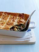 Lamb, pea and potato pie