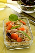 Chicken with bulghour and tarragon