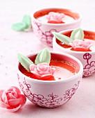 Rose water cream dessert