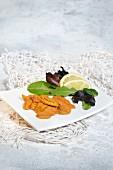Urchin roe salad
