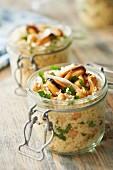 Semolina, mussel and chickpea salad