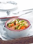 Veal and vegetable à l'étouffée
