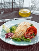 Grilled squid mixed salad