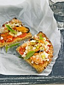 Shrimp and mussel pizza