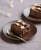 Chocolate and dried fruit cake