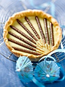 White chocolate and Mikado King Choco tart
