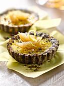Oréo biscuit and lemon tartlet