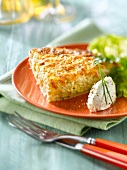 Onion and fromage frais tart