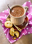 Hot chocolate with 4 spices and orange-flavored shortbread cookies