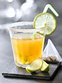 Darjeeling Lipton tea ,ginger and lime cocktail