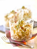 Crab, celeriac and mayonnaise Verrine