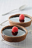 Dark chocolate tartelets