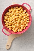 Colander of chickpeas