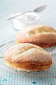 Galette bressane au sucre (Kleine Hefekuchen mit Zucker, Frankreich)