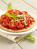 Individual cherry tomato savoury tart