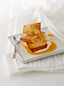 Apricot Financiers with cream and apricot puree