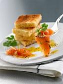 Gravlax-style marinated salmon