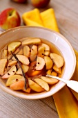 Nectaines in spicy Muscat wine