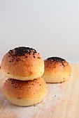 Bread buns sprinkled with seeds