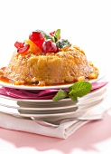 Semolina pudding with candied fruit