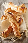 Flaky pastry twists