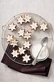 Star-shaped Christmas cookies
