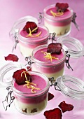 Beetroot and lemon mousse duo
