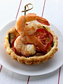 Vegetable and shrimp tartlet