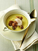 Cream of scallop and chestnut soup