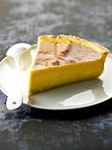 Slice of vanilla-flavored Parisien Flan