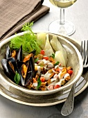 Mussels with cream and fennel